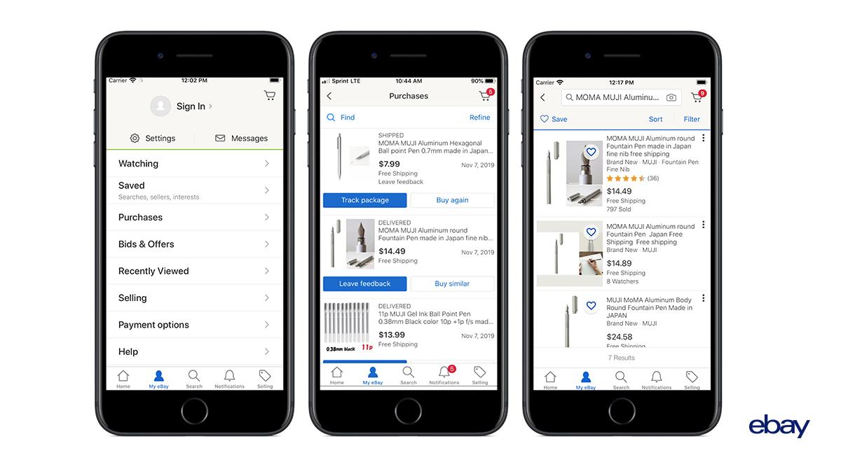 Az eBay jelentősen megkönnyítette az újravásárlást mobil applikációiban