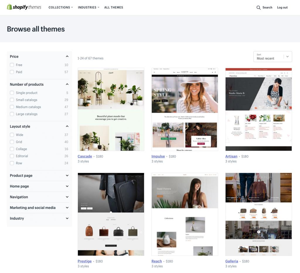 """ff2ad8a74b A Shopify bal oldali menüjében válasszuk az """"Online Store"""" alatti """"Themes"""",  azaz témák menüpontot. A Shopifyhoz alapból is már több különböző ingyenes  téma ..."""