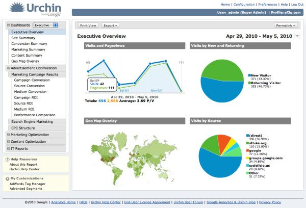 Urchin V7 Dashboard