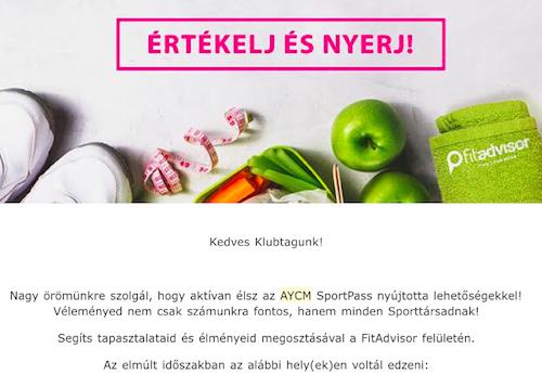 AYCM értékelj minket email