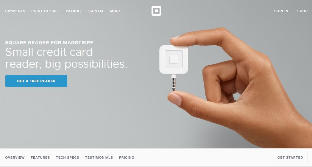 Kártyaelfogadás mobiltelefon kiegészítőkkel - Square