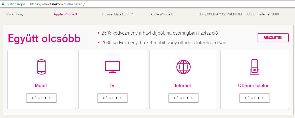 Telekom csomagajánlat