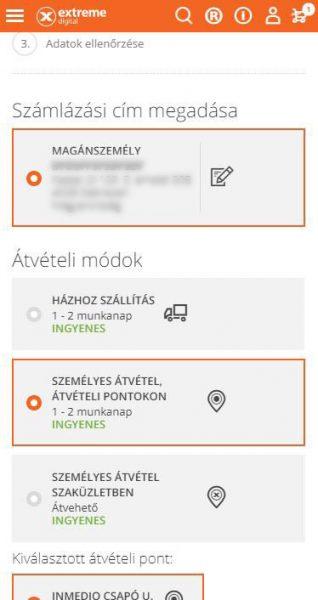 jól átlátható mobil felület