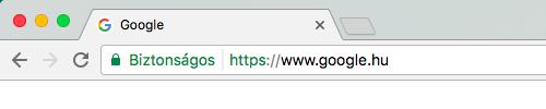 SSL jelzés Chrome böngészőben