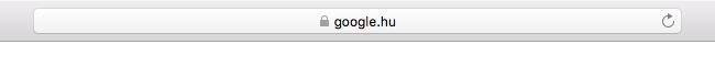 SSL jelzés Safari böngészőben