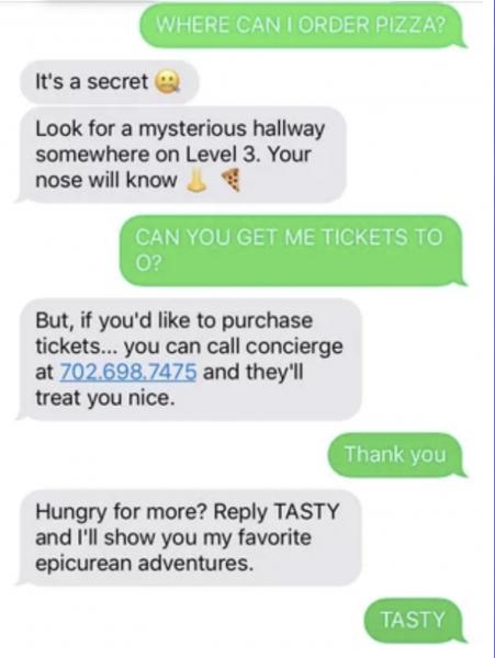 Rose - Las Vegas chatbot izgalmas személyiséggel
