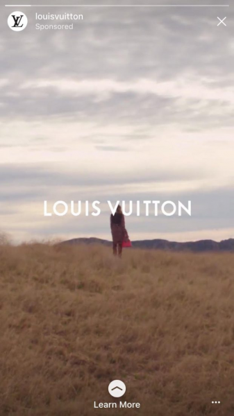 Louis Vuitton Instagram Story