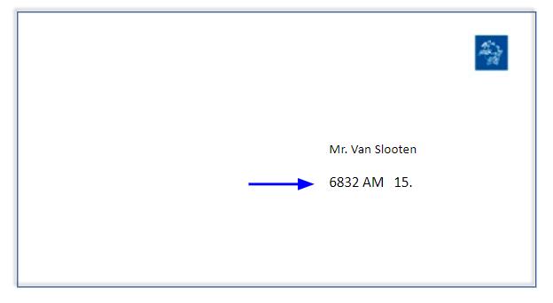 A hollandiában feladott csomagon így szerepel a 6 jegyű kód a csomagon