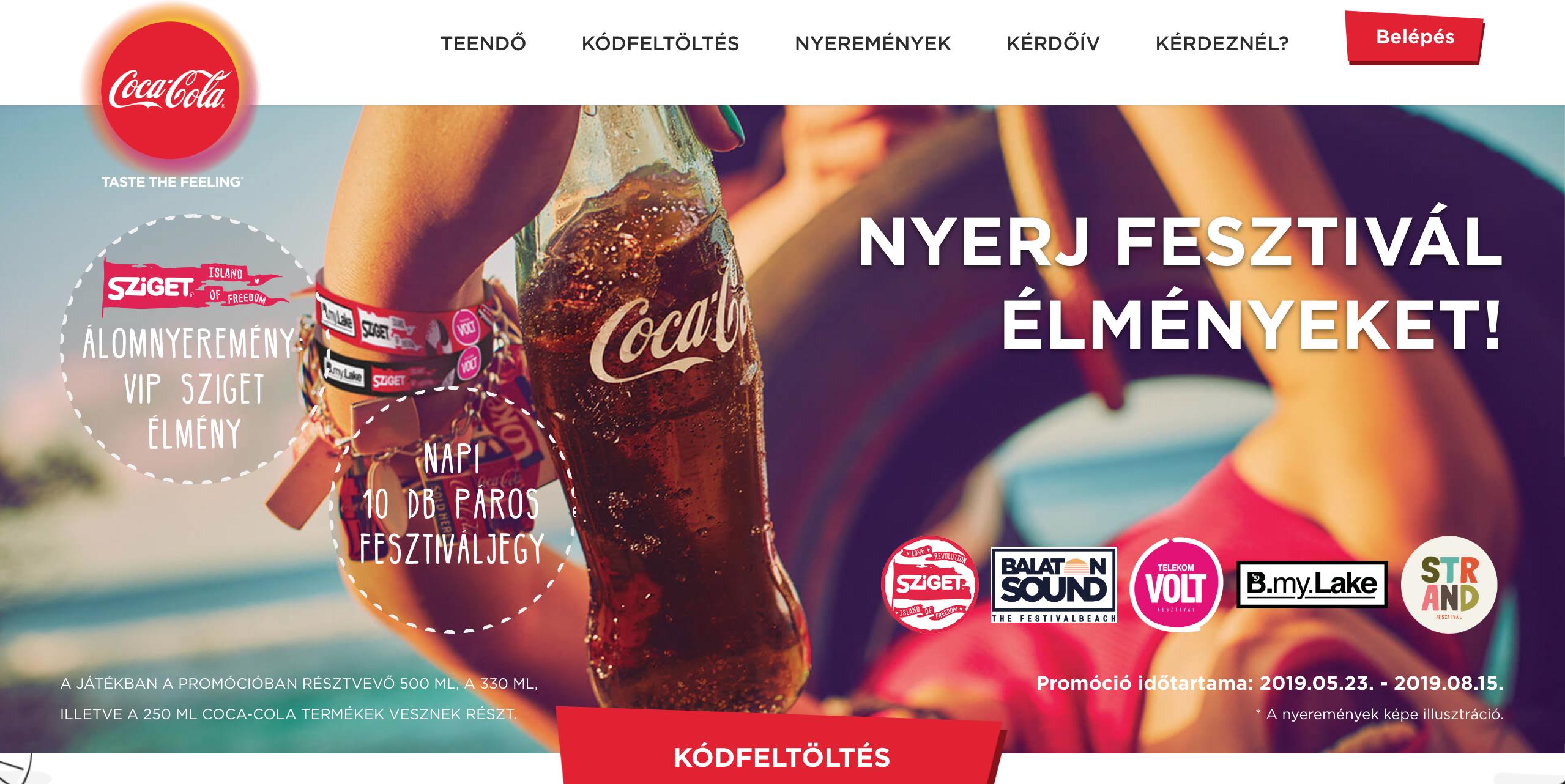 Coca-Cola microsite