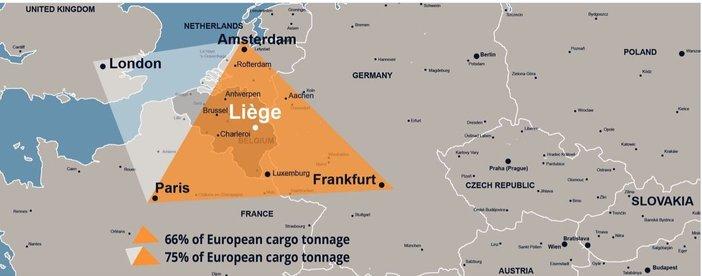 Liège jelentősége az európai légi szállítmányozásban