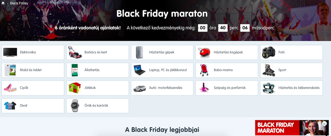 Mall.hu Black Friday Maraton