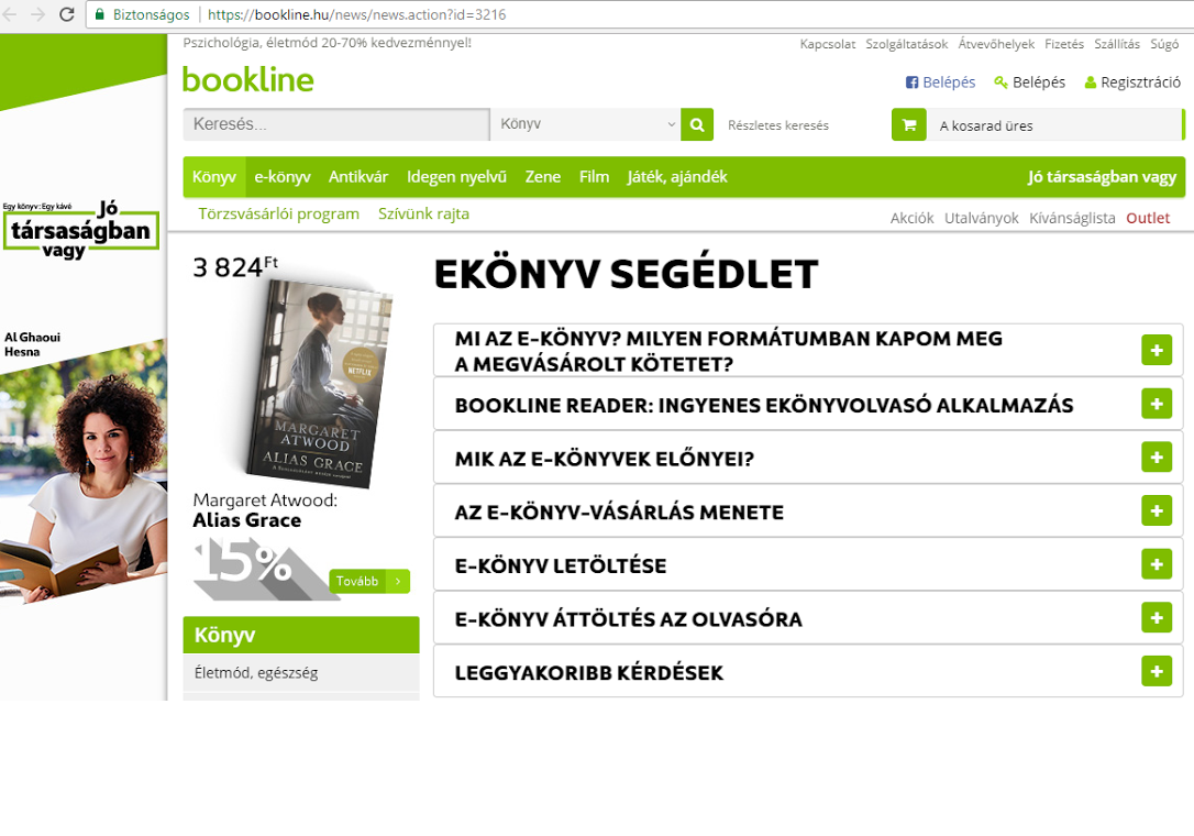 Bookline e-könyv segédlet
